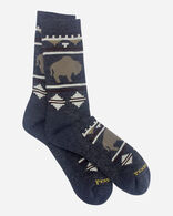 ROAMING BISON CAMP SOCKS IN CHARCOAL