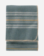 ECO-WISE WOOL THROW IN SHALE IRVING STRIPE