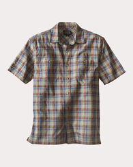 BARLOW OUTDOOR SHIRT, SPRING GREEN/BLUE PLAID, large