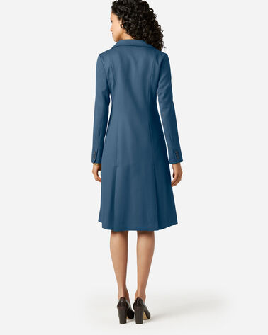 ADDITIONAL VIEW OF SEASONLESS WOOL FLORENCE COAT DRESS IN BLUE WING