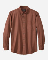 AIRLOOM MERINO SIR PENDLETON SHIRT, COPPER/TAUPE PLAID, large