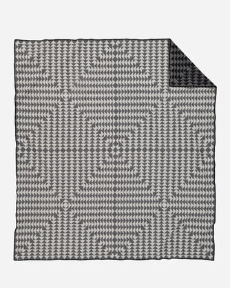 ADDITIONAL VIEW OF NOVA BLANKET IN CHARCOAL/WHITE