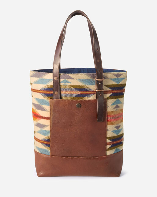 WYETH TRAIL OPEN TOTE IN IVORY