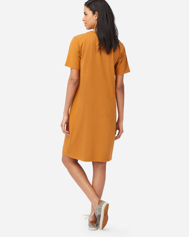 ALTERNATE VIEW OF DESCHUTES TEE DRESS IN GOLD HEATHER