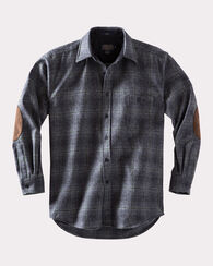 ELBOW-PATCH TRAIL SHIRT, OXFORD GREY/SAGE OMBRE, large