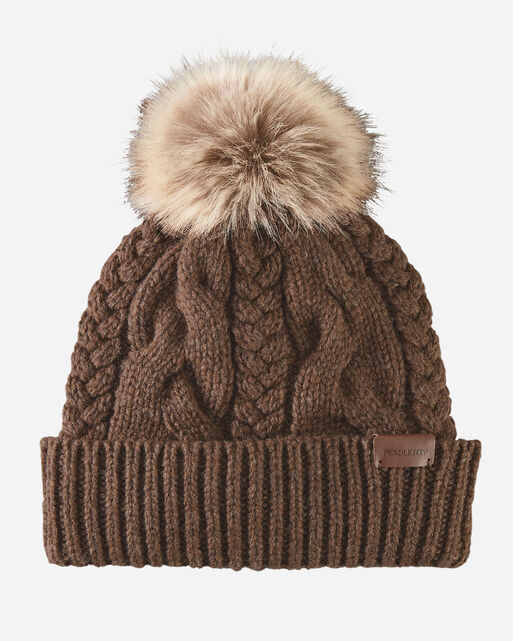 CABLE HAT IN NUTMEG