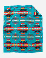CHIEF JOSEPH BLANKET IN TURQUOISE
