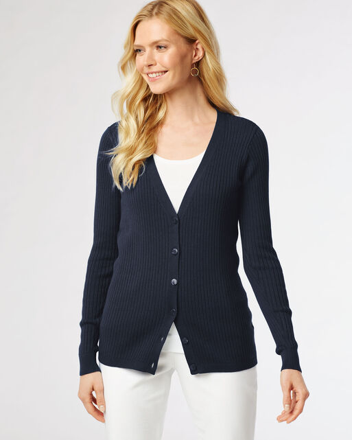RIBBED CARDIGAN, , large