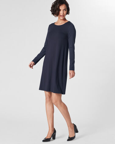 JULIA JERSEY SWING DRESS, DEEP NAVY, large