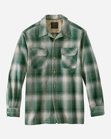 MEN'S BOARD SHIRT IN TAN/GREEN OMBRE PLAID