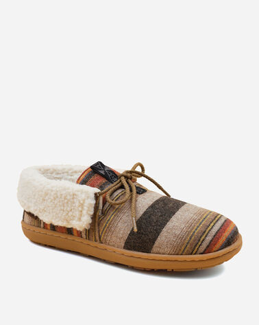 ALTERNATE VIEW OF WOMEN'S CABIN FOLD SLIPPERS IN ACADIA STRIPE