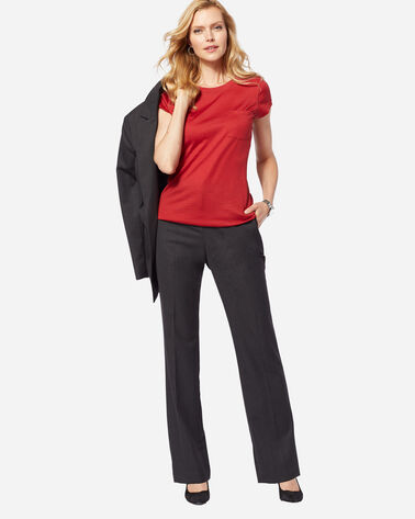 SEASONLESS WOOL STRAIGHT LEG PANTS IN OXFORD MIX