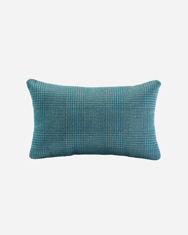 PENDLETON BY SUNBRELLA LUMBAR PILLOW IN BLUE/GREEN HOUNDSTOOTH