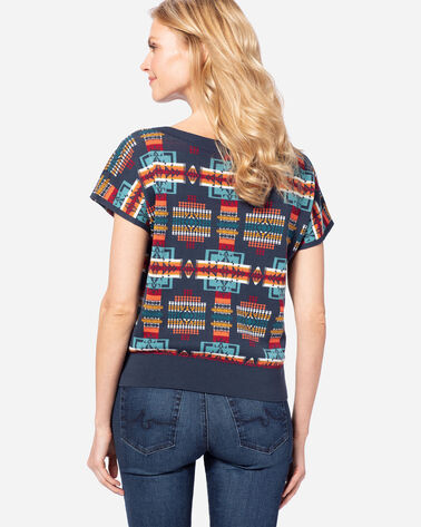 WOMEN'S CHIEF JOSEPH CROP PULLOVER, INDIGO, large