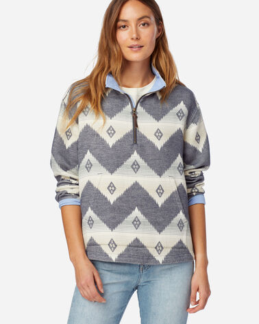 ALTERNATE VIEW OF WOMEN'S DOUBLESOFT HALF-ZIP PULLOVER IN NAVY CLOUDCROFT