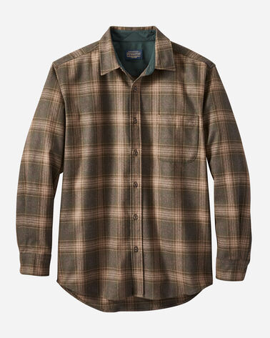 MEN'S LODGE SHIRT IN BROWN/GREEN MIX PLAID