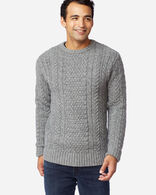 MEN'S SHETLAND FISHERMAN'S SWEATER IN GREY HEATHER