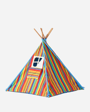 ADDITIONAL VIEW OF CANVAS TEPEE TENT IN RAINBOW