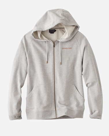 GRAPHIC ZIP HOODIE SWEATSHIRT, PENDLETON GREY HEATHER, large