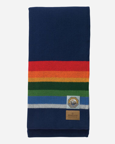 ADDITIONAL VIEW OF CRATER LAKE NATIONAL PARK BLANKET IN NAVY
