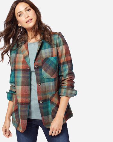 THE '49ER RETRO JACKET, AQUA/RUST PLAID, large