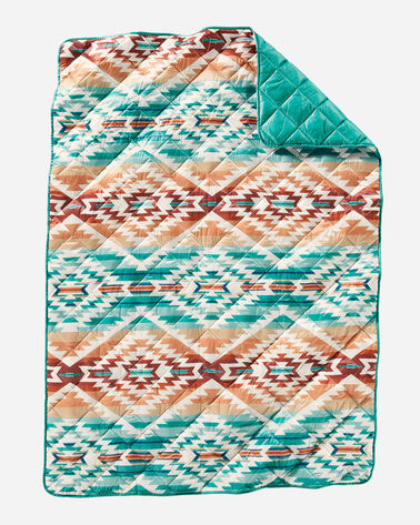 PAGOSA SPRINGS PACKABLE THROW IN AQUA