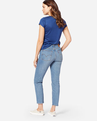 ADDITIONAL VIEW OF LEVI'S WEDGIE ICON JEANS IN DARK BLUE