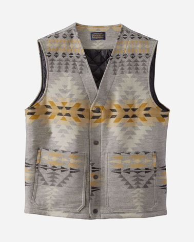 MEN'S PATCH POCKET WOOL VEST IN RANCHO ARROYO GREY