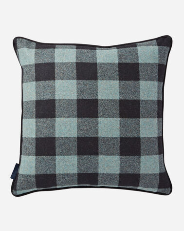 ADDITIONAL VIEW OF REVERSIBLE HARDING THROW PILLOW IN SHALE/BLACK