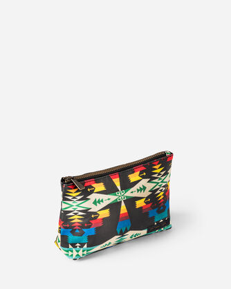TUCSON CANOPY CANVAS ZIP POUCH, BLACK/MULTI, large