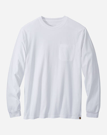 MEN'S LONG-SLEEVE DESCHUTES POCKET TEE IN WHITE