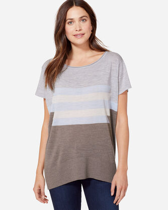 SHORT SLEEVE GRAPHIC MERINO PULLOVER, TAUPE, large