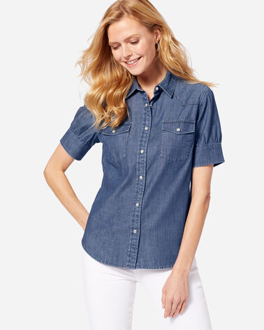 WOMEN'S SHORT SLEEVE WESTERN SHIRT
