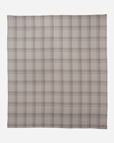 ADDITIONAL VIEW OF STILLWATER COTTON PLAID BLANKET IN NEUTRAL