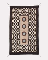 FOUR MIXTEC YEARS RUG, CREAM/BLACK, large