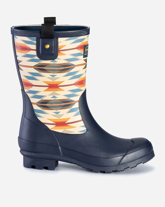 WOMEN'S WYETH TRAIL MID BOOTS IN NAVY