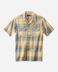 SHORT-SLEEVE BOARD SHIRT, BLUE/GOLD OMBRE, large