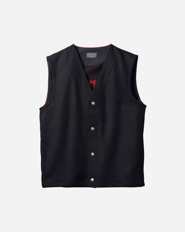 MEN'S CHIEF STAR VEST IN BLACK/RED