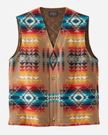 MEN'S ALPINE WOOL VEST IN TAN PILOT ROCK