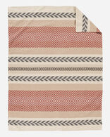 MOJAVE TWILL ORGANIC COTTON BLANKET IN CLAY