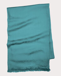 LUXE WEAVE WOOL SCARF, AQUA, large