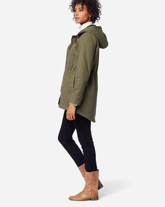 WOMEN'S SHELBY QUILTED HOODED ANORAK, LIGHT OLIVE, large