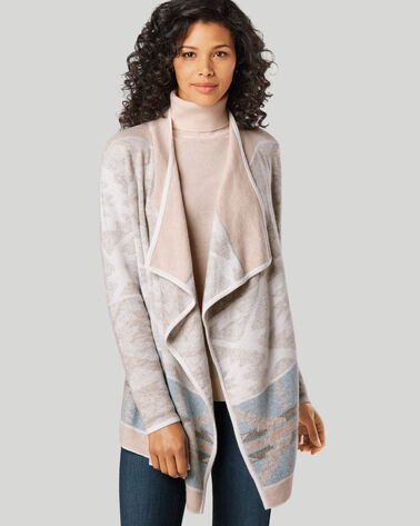 DRAPED EASY CARDIGAN, IVORY MULTI, large