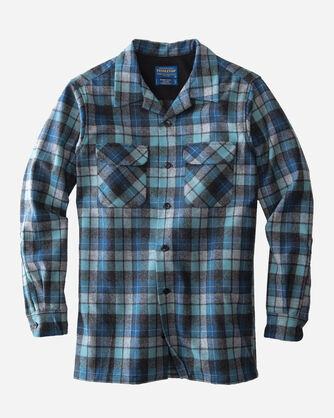MEN'S FITTED BOARD SHIRT IN BLUE ORIGINAL SURF