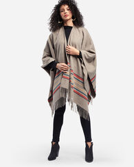 YAKIMA CAMP STRIPE COZY SHAWL, TAUPE MIX, large