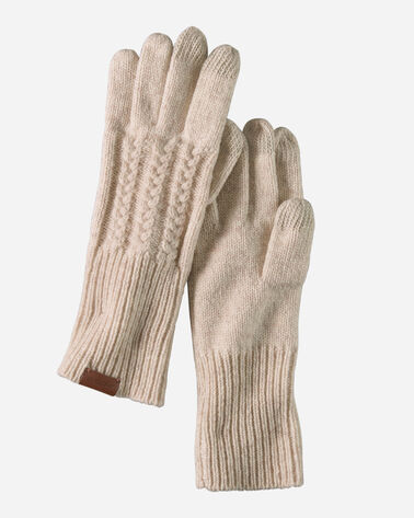 CABLE GLOVES IN OAT