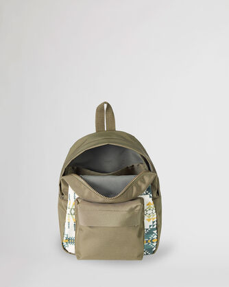 ALTERNATE VIEW OF PILOT ROCK CANOPY CANVAS MINI BACKPACK IN OLIVE
