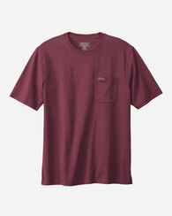 DESCHUTES POCKET TEE, MAROON HEATHER, large