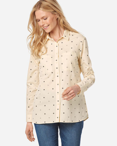 WOMEN'S MERIDIAN COTTON SHIRT IN SANDSHELL