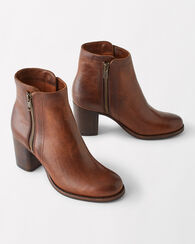 ADDIE DOUBLE-ZIP BOOTIES, WHISKEY, large
